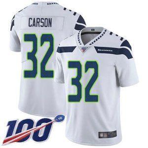 Seahawks Chris Carson 100th Season Jersey 1